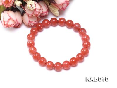 9.5-10mm High-grade Natural Nanhong Agate Bracelet RAB010 Image 3