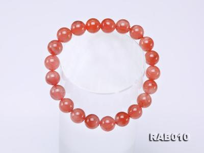 9.5-10mm High-grade Natural Nanhong Agate Bracelet RAB010 Image 5