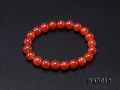 9.5-10mm High-grade Natural Nanhong Agate Bracelet RAB010 Image 6