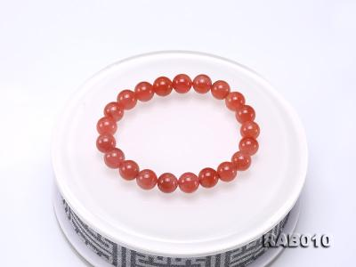 9.5-10mm High-grade Natural Nanhong Agate Bracelet RAB010 Image 7