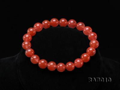 9.5-10mm High-grade Natural Nanhong Agate Bracelet RAB010 Image 8