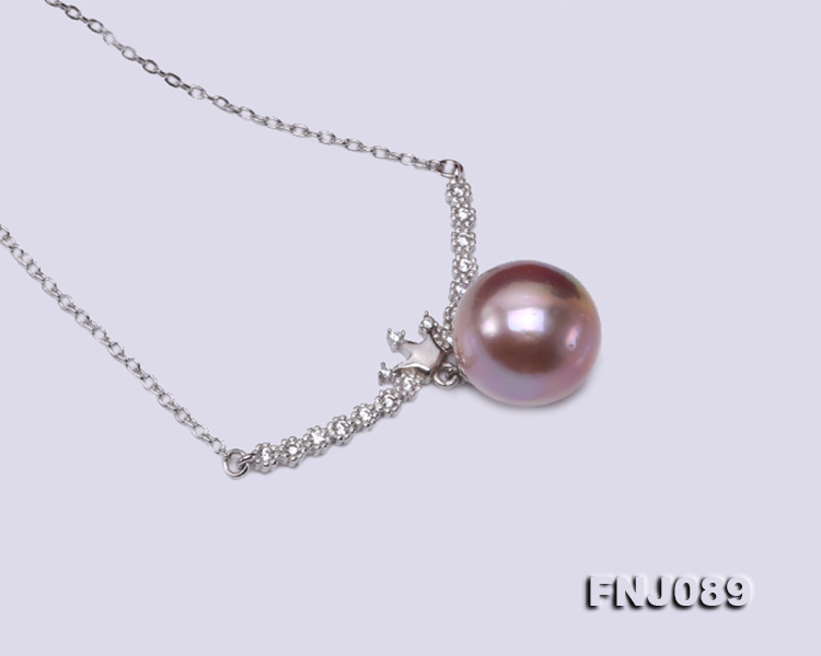 14-14.5mm Lavender Round Edison Pearl Necklace big Image 5