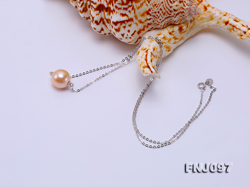 11-11.5mm Pink Edison Pearl Chain Necklace big Image 2