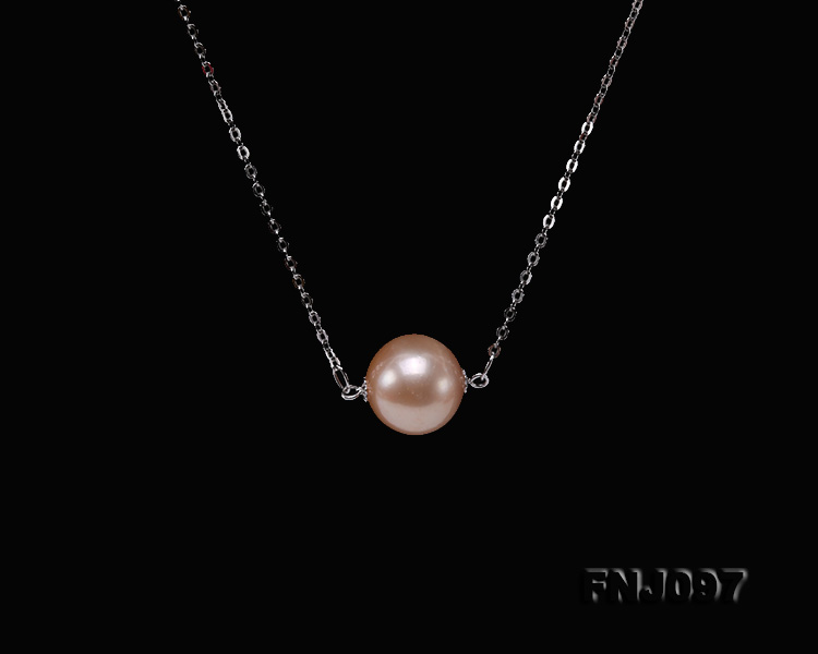 11-11.5mm Pink Edison Pearl Chain Necklace big Image 5