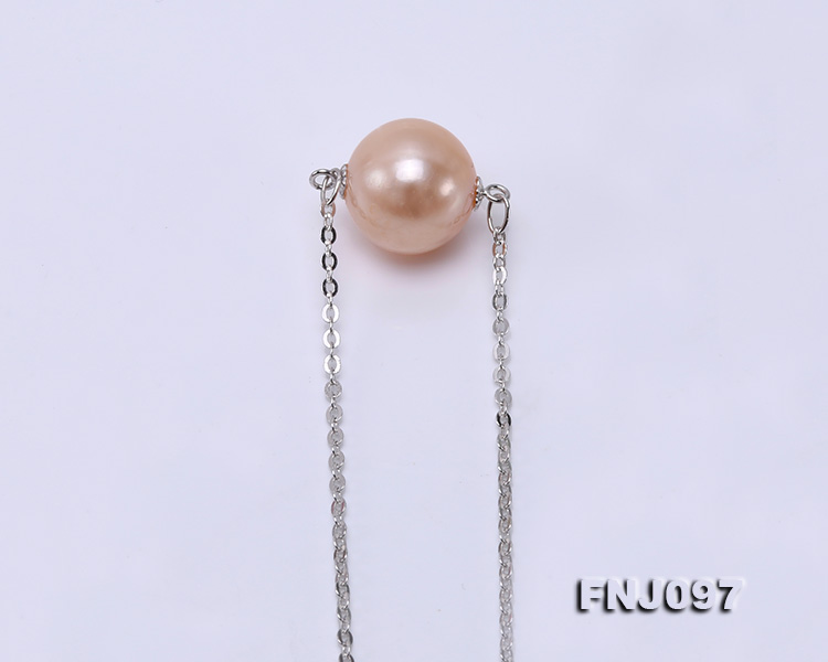 11-11.5mm Pink Edison Pearl Chain Necklace big Image 7