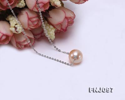 11-11.5mm Pink Edison Pearl Chain Necklace FNJ097 Image 4