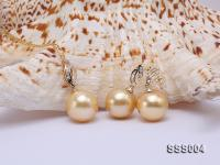 Classic Golden South Sea Pearl Pendant Earring Set in 14k Gold SSS004