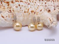 Classic Golden South Sea Pearl Pendant Earring Set in 14k Gold SSS005