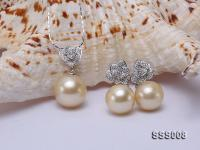 Classic Golden South Sea Pearl Pendant Earring Set in 14k Gold SSS008