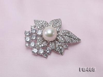 Lustrous 14.5mm White Round Edison Pearl Brooch/Pendant  FB465 Image 5