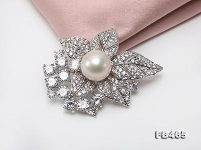 Lustrous 14.5mm White Round Edison Pearl Brooch/Pendant  FB465 Image 7