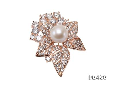 Lustrous 14.5mm White Round Edison Pearl Brooch/Pendant  FB466 Image 1