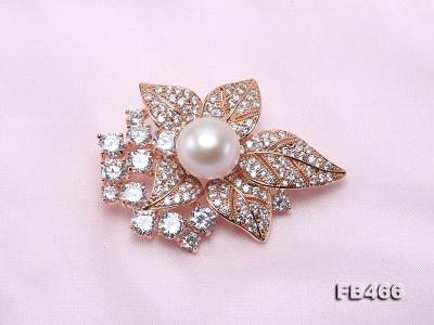 Lustrous 14.5mm White Round Edison Pearl Brooch/Pendant  FB466 Image 6