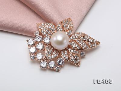 Lustrous 14.5mm White Round Edison Pearl Brooch/Pendant  FB466 Image 7