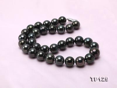 12-14mm Black Round Tahiti Pearl Necklace TP129 Image 6