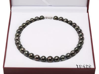12-14mm Black Round Tahiti Pearl Necklace TP129 Image 11