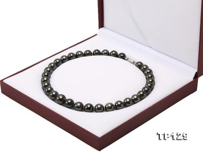 12-14mm Black Round Tahiti Pearl Necklace TP129 Image 12
