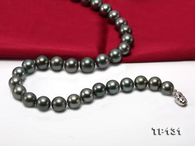 11.5-13mm Black Round Tahiti Pearl Necklace  TP131 Image 5
