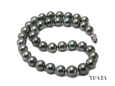 11.5-13mm Black Round Tahiti Pearl Necklace  TP131 Image 8