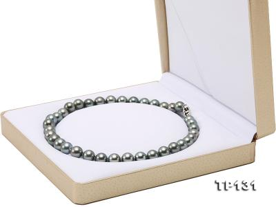 11.5-13mm Black Round Tahiti Pearl Necklace  TP131 Image 10
