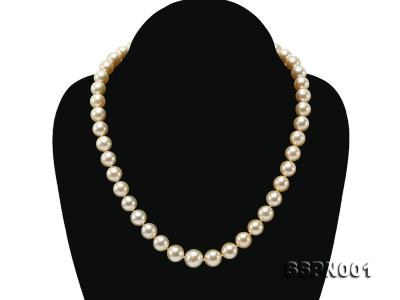 AAAAA 9-11.5mm Light Golden South Sea Pearl Necklace SSPN001 Image 1