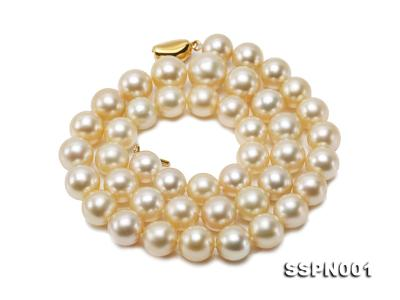 AAAAA 9-11.5mm Light Golden South Sea Pearl Necklace SSPN001 Image 2