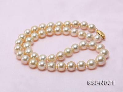 AAAAA 9-11.5mm Light Golden South Sea Pearl Necklace SSPN001 Image 8