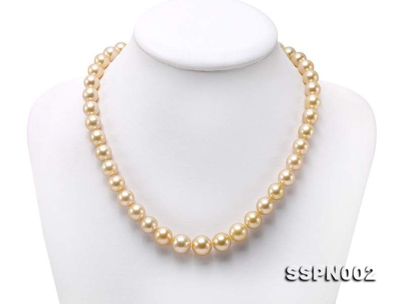 AAAAA 9-12mm Light Golden South Sea Pearl Necklace big Image 1