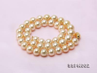 AAAAA 9-12mm Light Golden South Sea Pearl Necklace SSPN002 Image 6