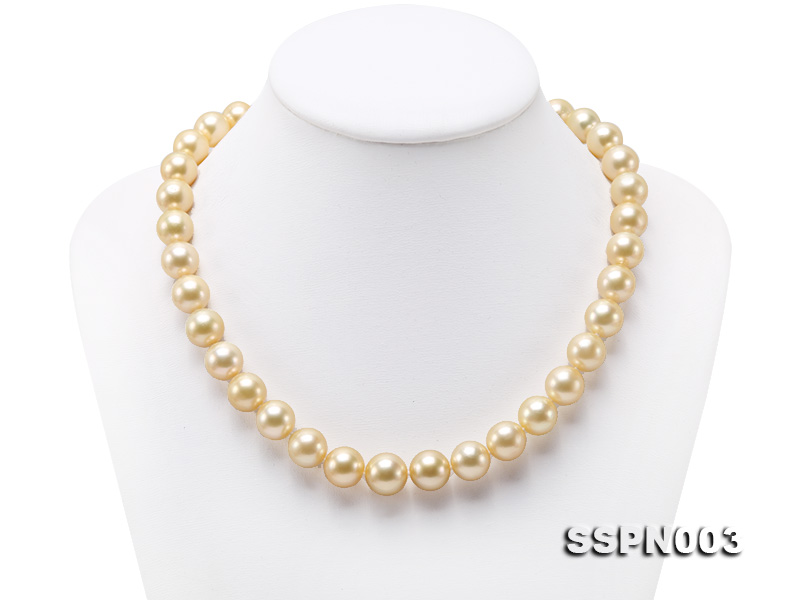 Luxurious 10-13mm Light Golden South Sea Pearl Necklace big Image 1