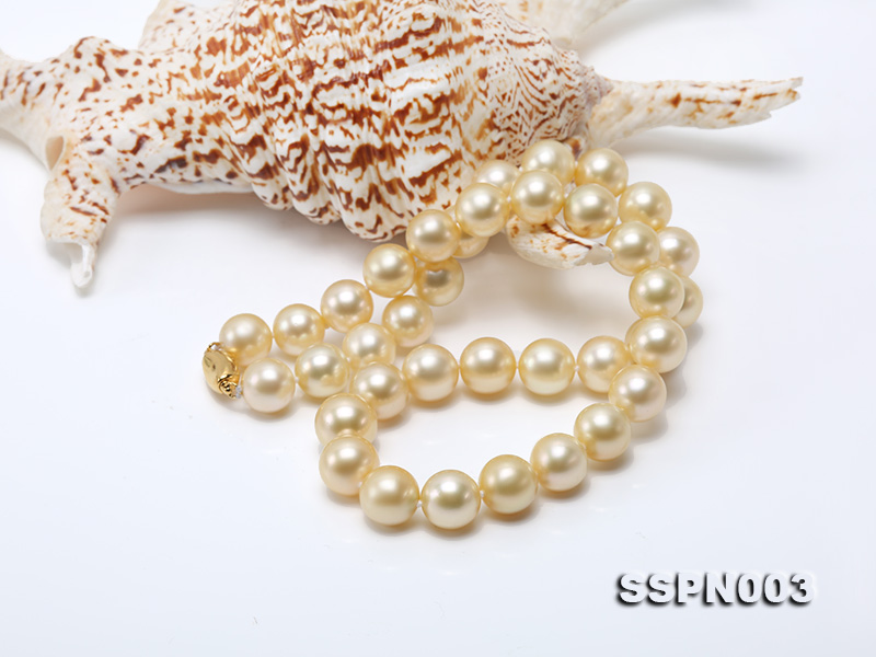 Luxurious 10-13mm Light Golden South Sea Pearl Necklace big Image 3