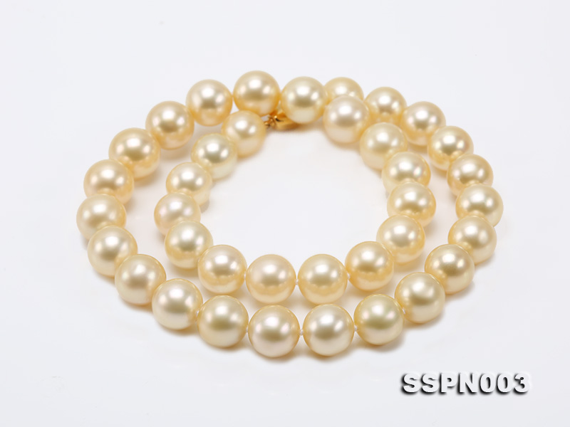 Luxurious 10-13mm Light Golden South Sea Pearl Necklace big Image 5