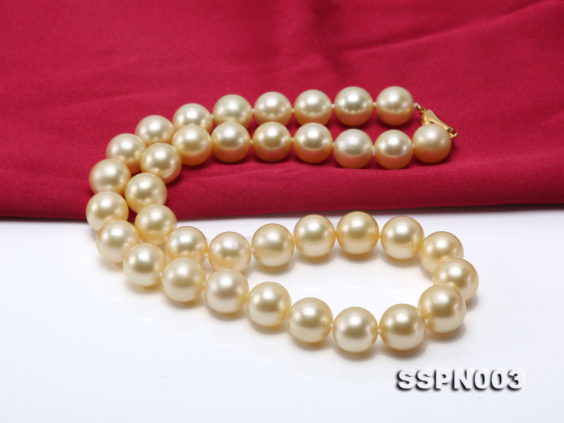 Luxurious 10-13mm Light Golden South Sea Pearl Necklace big Image 6