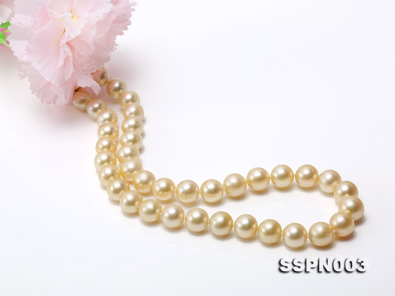 Luxurious 10-13mm Light Golden South Sea Pearl Necklace big Image 8