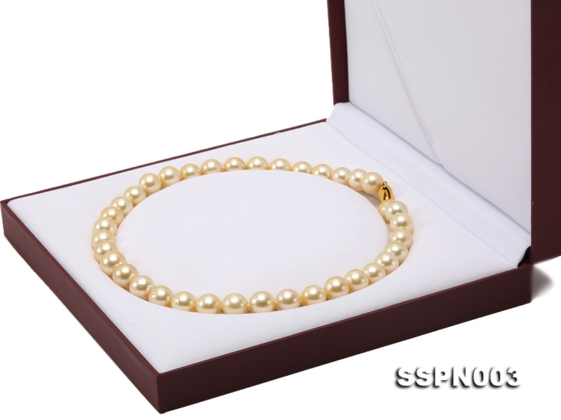Luxurious 10-13mm Light Golden South Sea Pearl Necklace big Image 10
