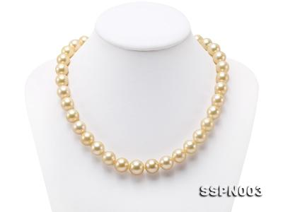 Luxurious 10-13mm Light Golden South Sea Pearl Necklace SSPN003 Image 1
