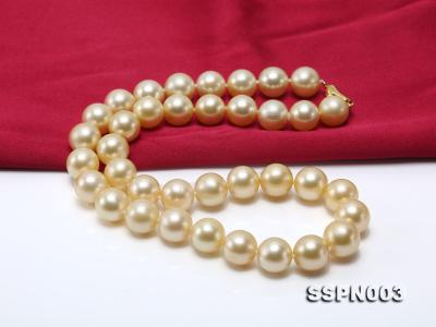 Luxurious 10-13mm Light Golden South Sea Pearl Necklace SSPN003 Image 6