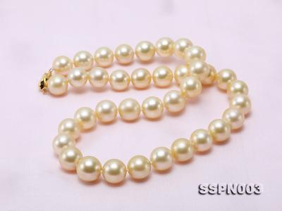 Luxurious 10-13mm Light Golden South Sea Pearl Necklace SSPN003 Image 7