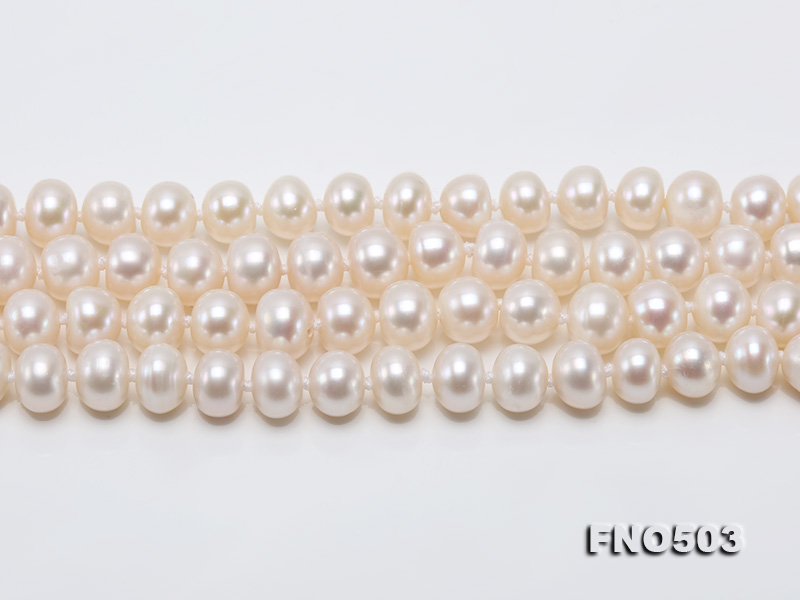Classical 6-7mm White Pearl Long Necklace big Image 11