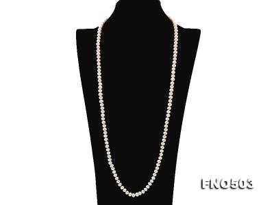 Classical 6-7mm White Pearl Long Necklace FNO503 Image 2