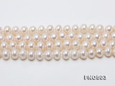 Classical 6-7mm White Pearl Long Necklace FNO503 Image 11