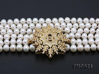 High Grade 8-8.5mm Three-Strand Freshwater Pearl Opera Necklace FNO521 Image 7
