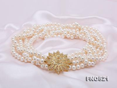 High Grade 8-8.5mm Three-Strand Freshwater Pearl Opera Necklace FNO521 Image 9