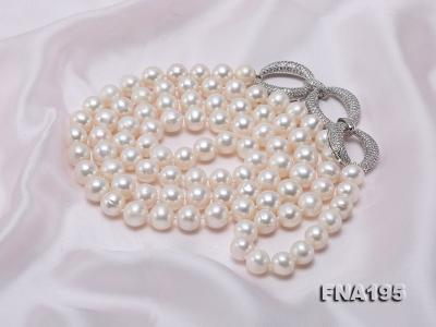 8.5-9.5mm White Round Freshwater Pearl Opera Necklace FNA195 Image 7