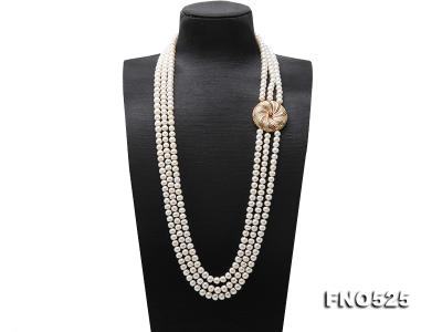 High Grade 8-9mm Three-Strand Freshwater Pearl Opera Necklace FNO525 Image 1