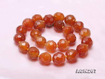Beautiful 18mm Red Faceted Agate Necklace AGN268 Image 5