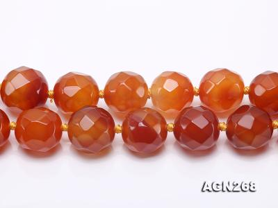 Beautiful 18mm Red Faceted Agate Necklace AGN268 Image 7