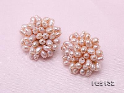4x5mm Lavender Rice-shaped Cultured Freshwater Pearl Clip-on Earrings FES132 Image 4