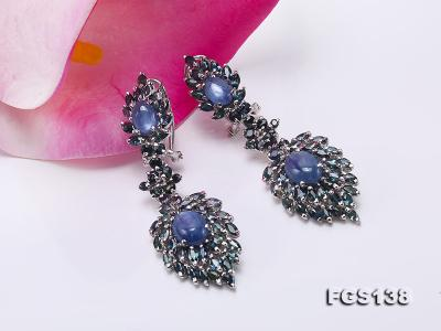 Luxurious Sapphire Ring and Earrings Set in Sterling Silver FGS138 Image 6