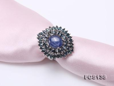 Luxurious Sapphire Ring and Earrings Set in Sterling Silver FGS138 Image 8